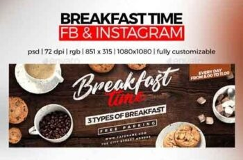 Breakfast Time Facebook Cover and Instagram 22672687 3