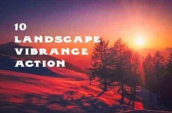 10 vibrant landscape effect photoshop action 3502696 7