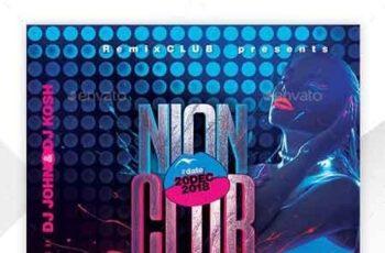 Neon Flyer Template 22674331 5