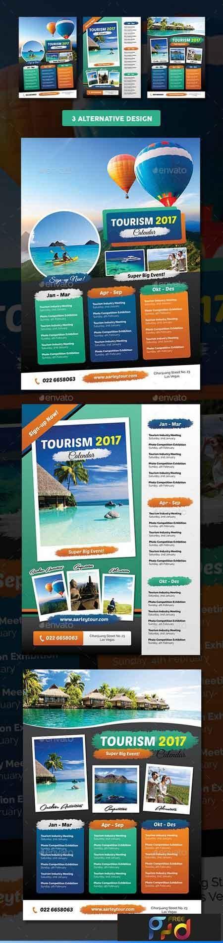 Tourism Events Calendar Flyer Template 18182109 1