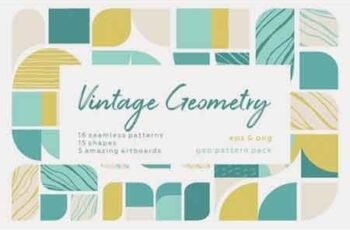 Vintage Geometry Patterns Collection 2621606 5