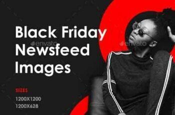 Black Friday Sale Social Media Banner Set 22681544 2