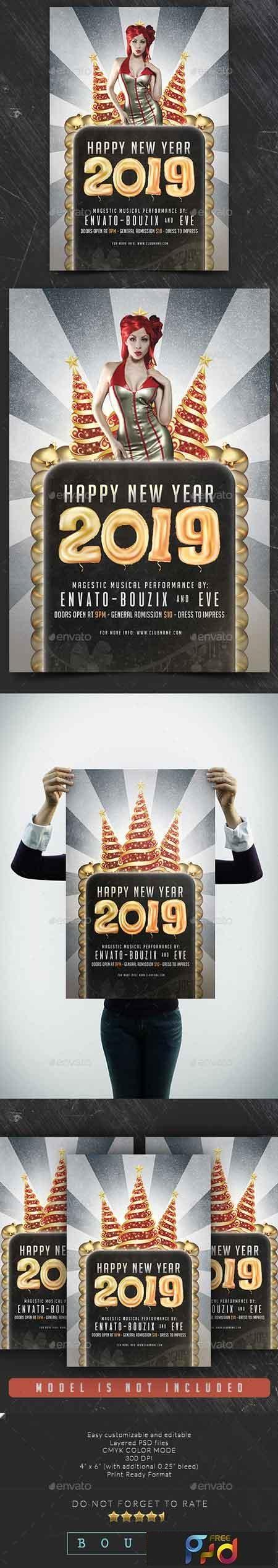 Happy New Year 2019 Flyer 22734077 1