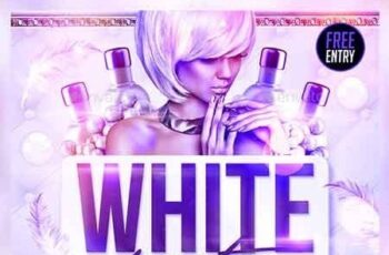 White Party Flyer 22685325 8