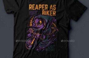 Reaper As Biker T-Shirt Design 21055036 5