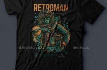 Retroman T-Shirt Design 21055042 5