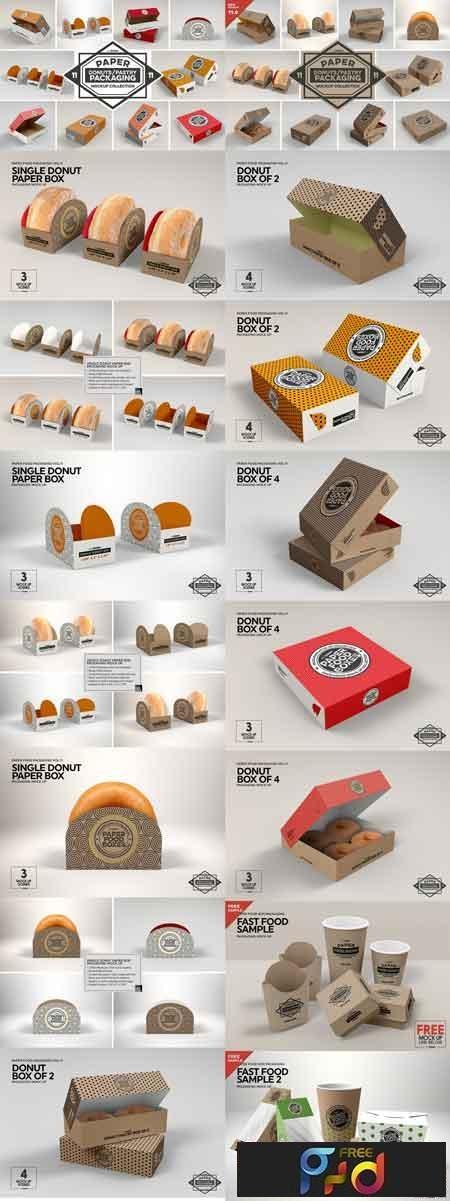 VOL.11 Food Box Packaging Mockups 2918568 1