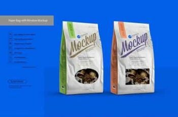 White Paper Bag with Window Mockup 3086233 2