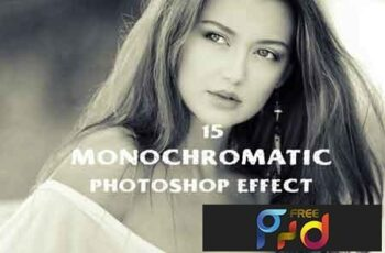 15 monochromatic effect photoshop action 3502463 2