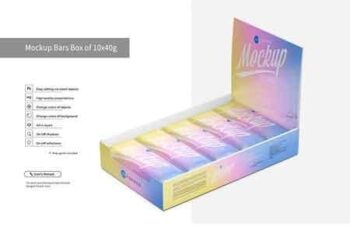Mockup Bars Box of 10x40g 3082964 8