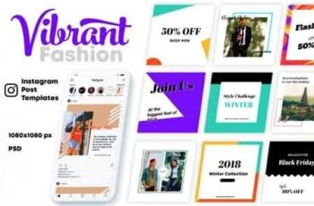 Vibrant Fashion-Instagram Templates 3501342 3