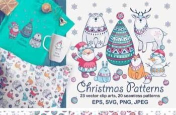 Christmas Patterns and Clip Arts 604652 3