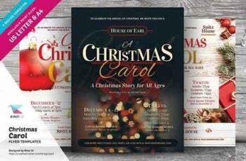 Christmas Carol Flyer Templates 3040693 4