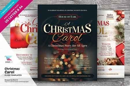 Christmas Carol Flyer Templates 3040693 Freepsdvn