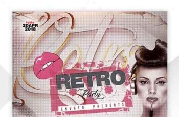 Retro Party Flyer Template 22675747 6