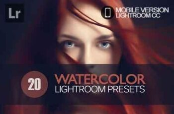 20 Watercolor Lightroom Mobile bundle 3504095 4