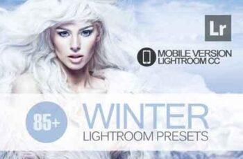 85+ Winter Lightroom Mobile bundle 3504099 3