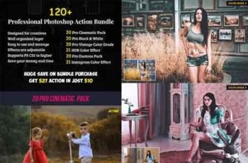 120+ Pro Photoshop Action Bundle 22740664 3