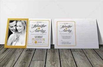 Elegant Wedding Invitation & RSVP 10450349 4