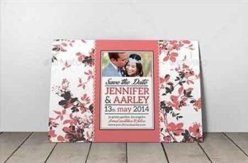 Shabby Chic Wedding Invitation Post Card Vol.2 7077659 5