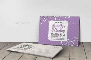 Wedding Invitation Post Card 6582074 6