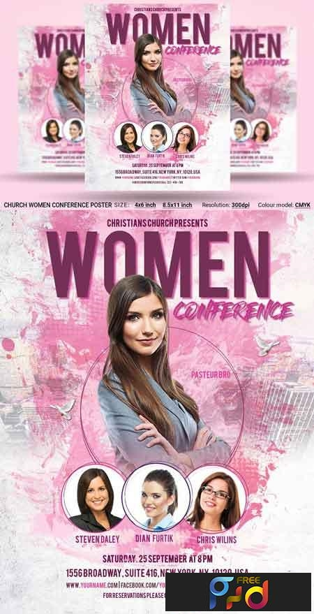 Church Women Conference Flyer Poster 2958709 1