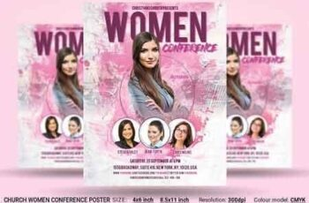 Church Women Conference Flyer Poster 2958709 3