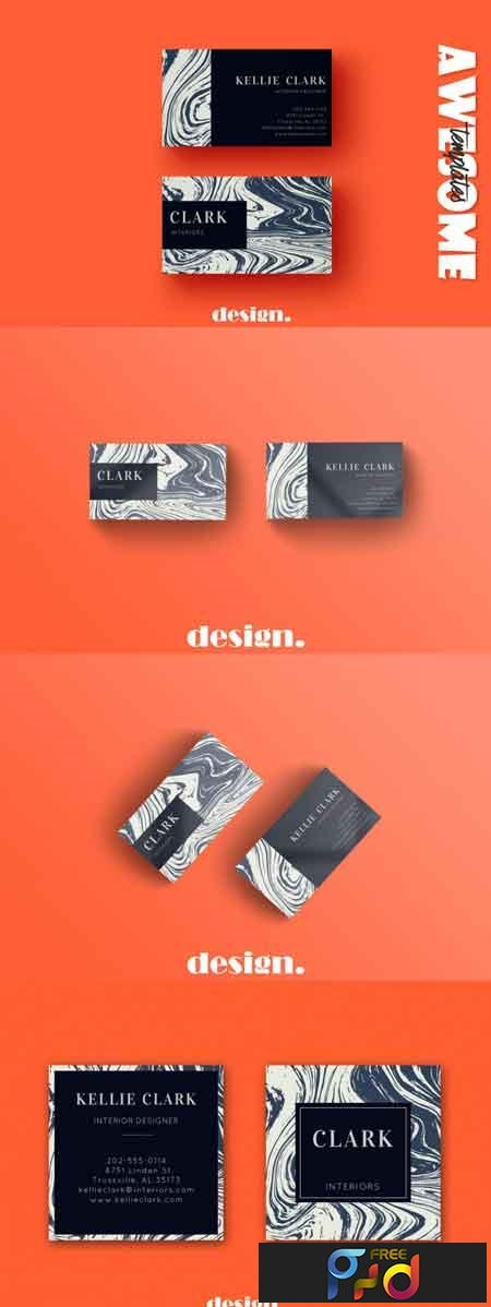 Marble Business Card Template 3490682 1
