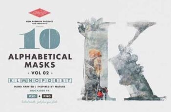 10 Alphabetical Masks Vol 02 3054887 3