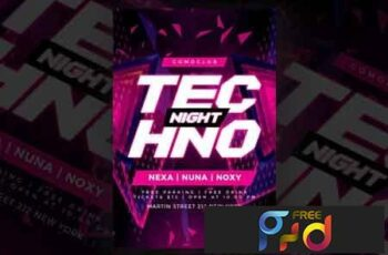 Techno Night Flyer Party 3490699 6