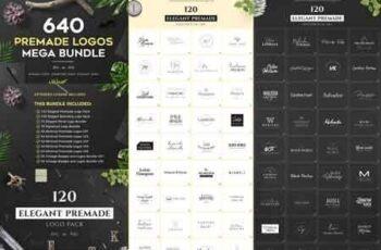 640 Premade Logos Mega Bundle 2971515 6
