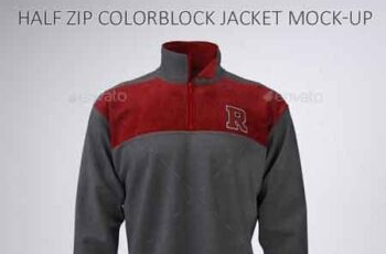 Half Zip Fleece Track Jacket Mock-Up 22735197 6