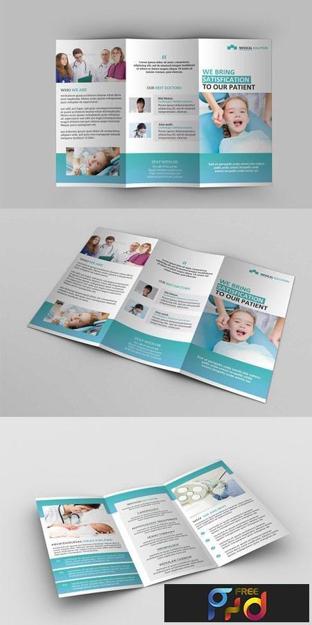Medical Tri Fold Brochure Templete 2020 Template for Free ... |Medical Tri Fold Brochure Template