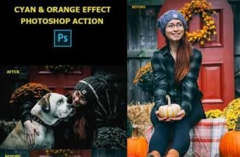 Cyan & Orange Photoshop Action 22687269 4