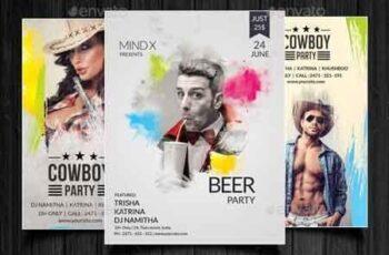 Beer Party Splash Flyer Bundle 22713709 3