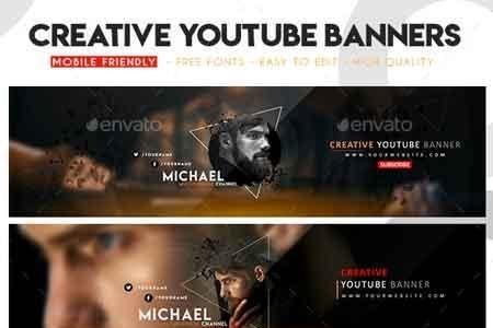 Creative Multipurpose Youtube Banners 22714302 Freepsdvn