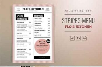Stripes Menu Resto Template 22794149 4