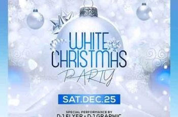 White Christmas Party Flyer Template 22713168 5
