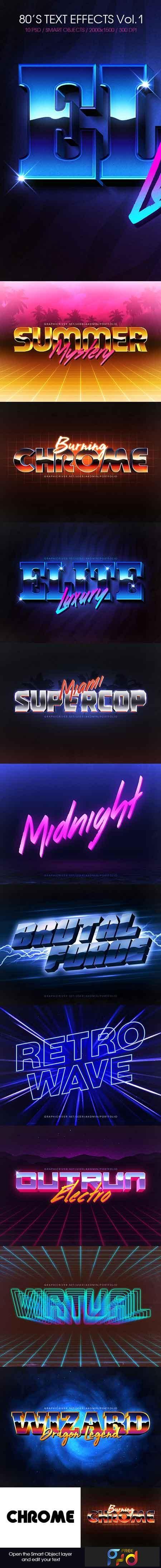 80s Text Effects Vol 1 22583100 - FreePSDvn