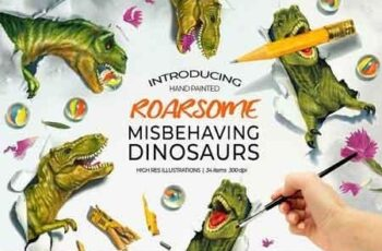Dinosaurs Misbehaving- RoarsomeT-Rex 2884444 3