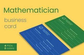Mathematician Business Card Template 2930580 6