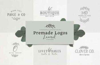 Premade Logo bundle laurel feminine 2926739 3