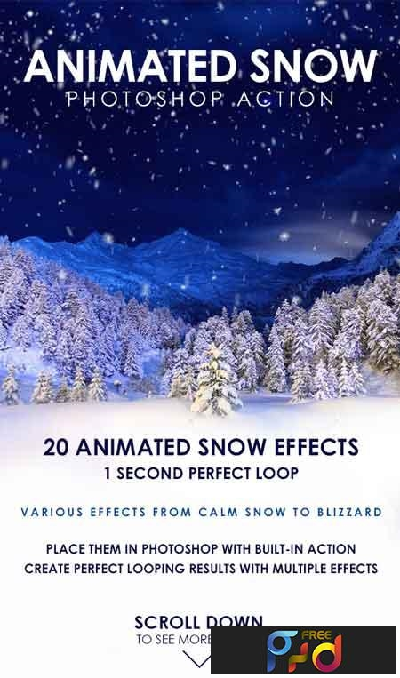 Animated Snow Photoshop Action 19429039 1