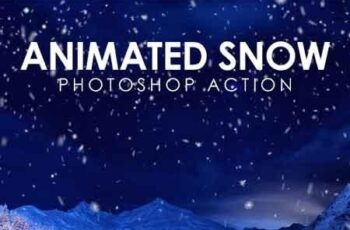 Animated Snow Photoshop Action 19429039 2