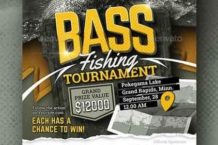 Bass Fishing Tournament Flyer 22718192