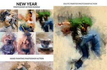 New Year Photoshop Action Bundle 21173802 16