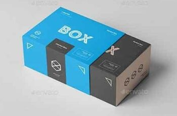 Carton Box Mock-up 135x105x60 & Wrapper 22798090 3