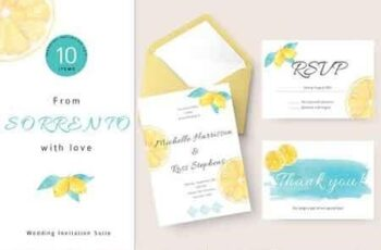 Lemon Wedding Invitation Suite 3107487 7