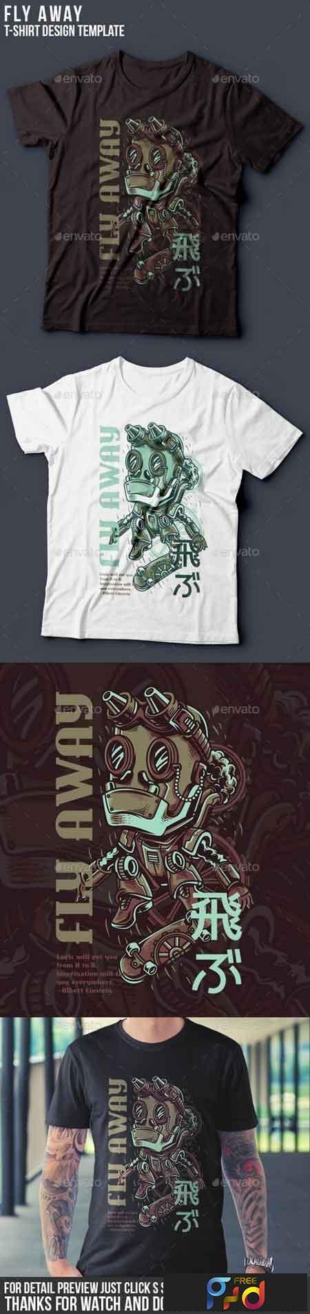 Fly Away T-Shirt Design 22143339 1