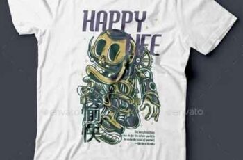 Happy Life T-Shirt Design 22143297 4